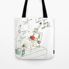 I don't know how love works Tote Bag