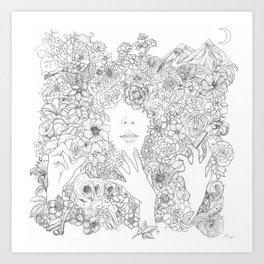Familiar Steps  Art Print