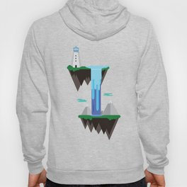 Floating islands with lighthouse Hoody
