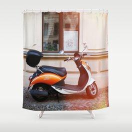 Vespa love Shower Curtain