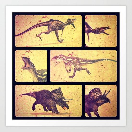 Dino Yearbook 2 Art Print