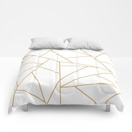Geometric Gold Hexagon Pattern Comforters