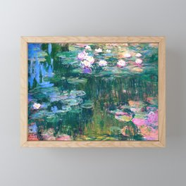 water lilies : Monet Framed Mini Art Print