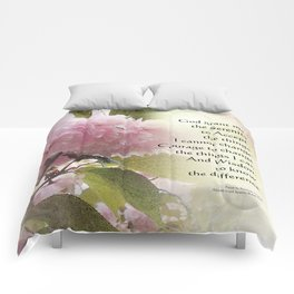 Serenity Prayer Cherry Blossom Glow Comforters