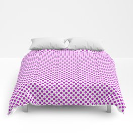 Dazzling Violet Polka Dots Comforters
