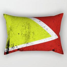 Rusty abstract art Rectangular Pillow