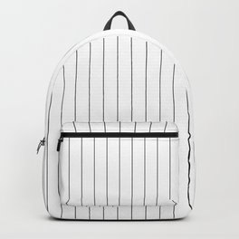 White Black Pinstripes Minimalist Backpack