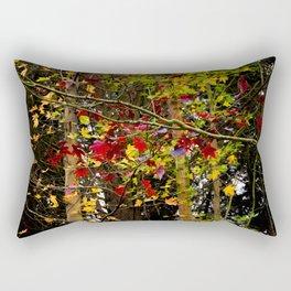 multicolored leaves Rectangular Pillow