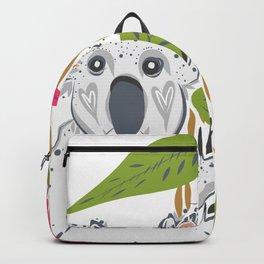 Koala animal nature lover happy print Backpack