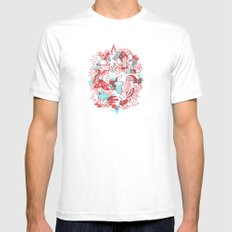 Space Deluxe Mens Fitted Tee White MEDIUM