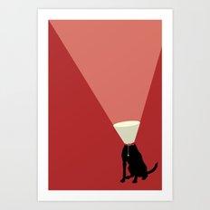 Lamp Dog Art Print