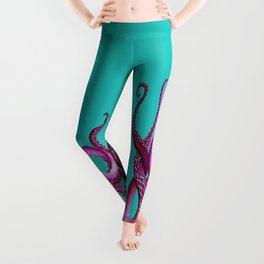 Teal and Pink Kraken Leggings