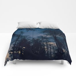 Night Forrest Comforters