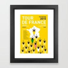 MY TOUR DE FRANCE MINIMAL POSTER ETAPES 2015 Framed Art Print