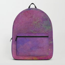 Pink violet yellow brush strokes Backpack