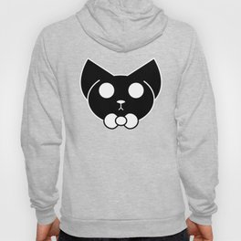 Cute Round Cat With a Bow Tie Hoody