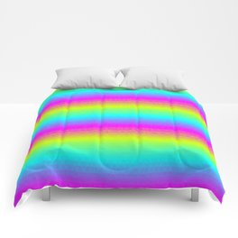 Neon Stripes Comforters