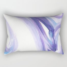 Wind on the City 2 - - Abstract painting in modern lavender purple with hints of bright blue Rectangular Pillow