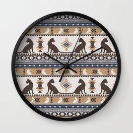 Boho cats | Oriental shorthair tan Wall Clock