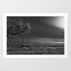 Black and White Field Art Print
