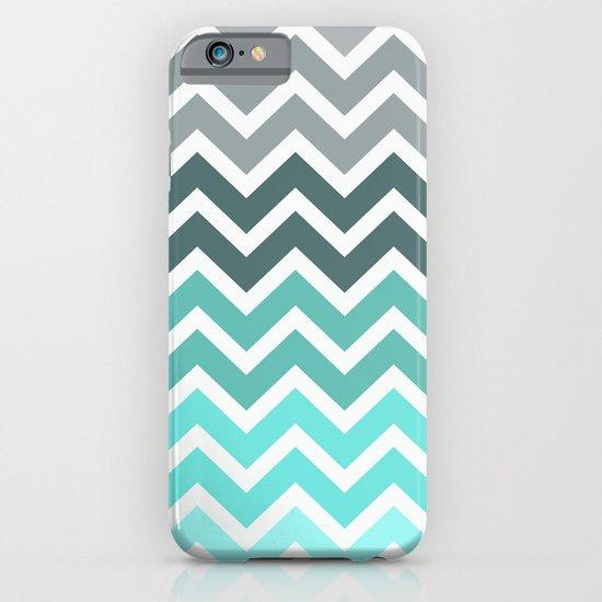 Tiffany Fade Chevron Pattern iPhone & iPod Case