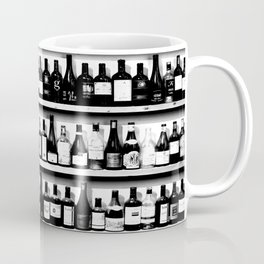 Wine Bottles in Black And White #society6 #decor Coffee Mug