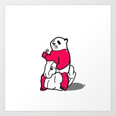 Ice Cream Panda Art Print