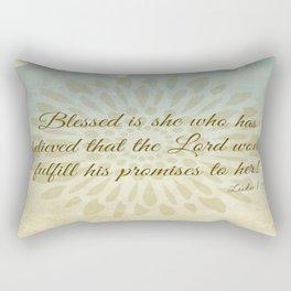 Blessed is She - Luke 1:45  Scripture Rectangular Pillow