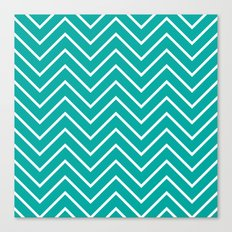 Aqua Chevron Canvas Print