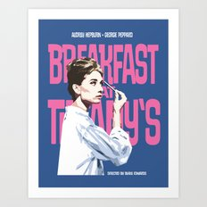 Breakfast at Tiffany's Movie Poster Art Print