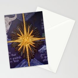 The Four Lights of Winter Stationery Cards