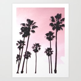 Palms & Sunset Art Print