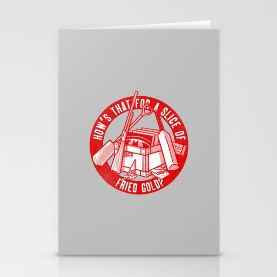 Fried Gold (red on you variant) Stationery Cards