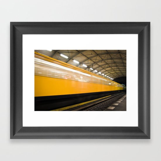 Berlin Subway Framed Art Print