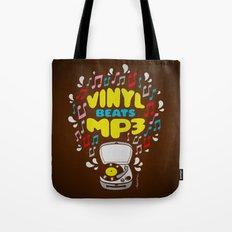 Vinyl Beats Mp3 Tote Bag