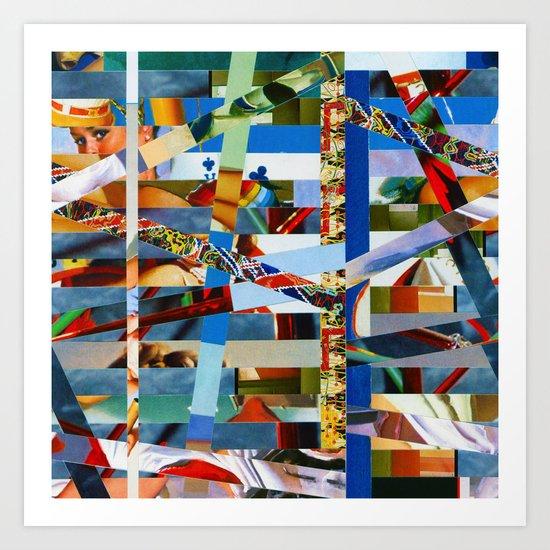 Michael (stripes 9) Art Print