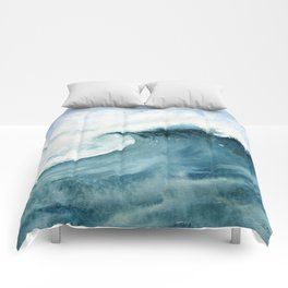 Wave Watercolor Study Comforters