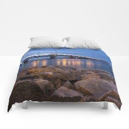 Twilight at Yorktown Beach Comforters