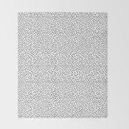 Grey Leopard Print Throw Blanket