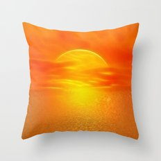 Sonne über dem Meer Throw Pillow