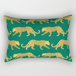 The New Animal Print - Emerald Rectangular Pillow