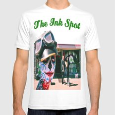 The Ink Spot White MEDIUM Mens Fitted Tee