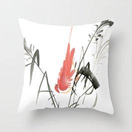 Bird 4- Chinese Shui-mo (水墨) Throw Pillow