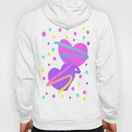 Confetti Hearts - Transparent Hoody