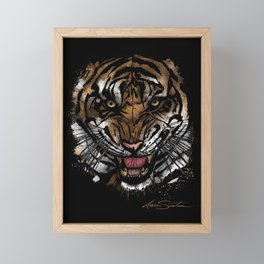 Tiger Face (Signature Design) Framed Mini Art Print
