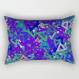 love for triangle Rectangular Pillow