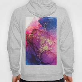 Pink, Gold and Blue Explosion Painting Hoody
