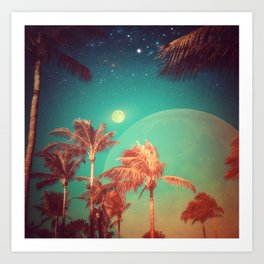 Moon Over Miami Art Print