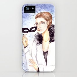 Girl with mask iPhone Case