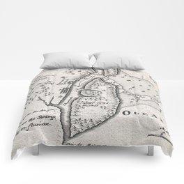 Vintage Map of St. Augustine Florida (1737) Comforters